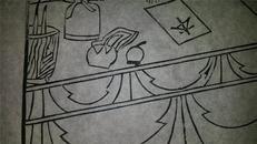 名家早期老木刻木版年画版画*历代帝王图之清朝*值得收藏