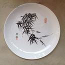 韩敏 绘 游鱼图 手绘瓷盘