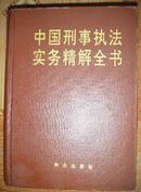 中国刑事执法实务精解全书