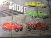 【民国老爷车宣传画】DODGE 美国道奇克莱斯勒轿车宣传画;巨幅127x96厘米 纯手工上色、绝世珍品收藏、详见描述