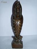 斗篷观音像观世音像 l老铜器佛像神相摆件老铜像佛家古董古玩工艺