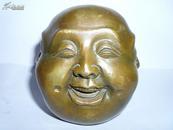 喜怒哀乐佛 铜器佛像神相摆件老铜像佛家古董古玩杂项收藏佛具