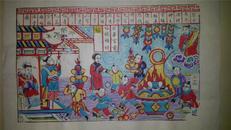 杨家埠木版年画版画大全之074*家中有个活财神