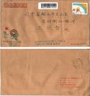 手绘96第三届亚洲冬季运动会首日实寄封
