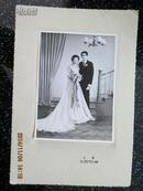 老照片   婚纱结婚照60年代11*15