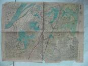 民国地图:湖北省 嘉鱼县地形图