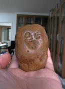 天然奇石造型石马达加斯加玛瑙籽料原石手玩石:无忧