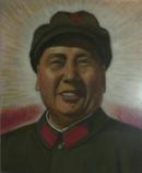 文革油画  毛主席标准像