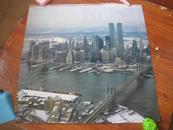 美国双子星摩天大楼画纸------1张(货号761)