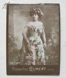 老烟卡1906年法国Climent烟草公司照相版半裸美女烟卡