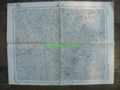 民国地图58【1947年】湖北省郧县郧西县老庄地形图
