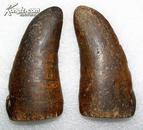 清代 好品竹卦(单个长10.2cm宽5cm厚1.6cm)