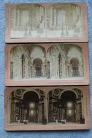 清末民国时期立体照片--清代基督教世界五大教堂之首,世界第一教堂, 米开朗基罗设计圣彼得大教堂---三张合售