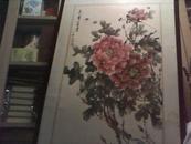 中国美协 - 古画临摹实技作者 - 刘文斌国画牡丹(丁晓翁 题款'花开富贵')