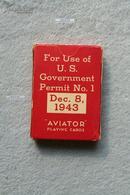 二战抗战时期1943年12月美军军方特供飞行员扑克牌--红十字会礼品----非卖品禁止出售。罕见的是牌盒上写有:1943年12月8日,估计是二战进程中一个值得纪念的重要日子,也许和飞行员空军有关系。