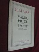 1947年版 KARL MARX VALUE,PRICE AND PROFIT(卡尔马克思的价值,价格和利润)
