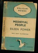 1939年英文版:《pelican books· medieval people·Eileen power》(鹈鹕书· 中世纪人:艾琳的权力)【带精美插图】
