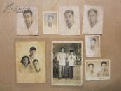 老照片:家庭合照、个人照、双人照八张混售