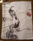 神韵气势很好的鹰鹫国画一张。