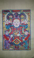 杨家埠木版年画版画大全之026*财神进门年年发财