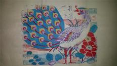 杨家埠木版年画版画大全之031*孔雀