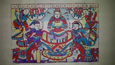 杨家埠木版年画版画大全之038*劳动能发家