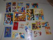 一堆张早期儿童贴画(小粘贴)和售:七龙珠,圣斗士,街霸等  L1