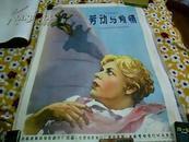 老电影海报 前苏联约绘画版老经典电影【劳动与爱情】孔网孤本