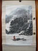 丁观加山水画一幅(内径45乘68厘米)