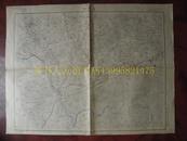 民国地图64【1947年】湖北省江汉道嘉鱼县蒲圻县地形图