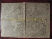 民国地图74【1945年】湖北省嘉鱼县蒲圻县地形图