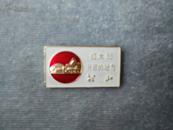 *FWPS00-文革老徽章-红太阳升起的地方韶山,背文:参观毛主席旧居纪念