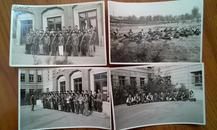 老照片 1958年国庆前夕民兵操练照片 四张