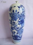 细口龙纹花瓶 青花瓷摆件老瓷古瓷陶瓷瓷器瓷片摆设古董老青花
