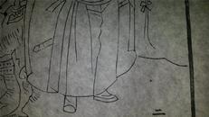 名家早期老木刻木版年画版画*历代帝王图之夏朝*值得收藏