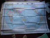 世界地图;1:25000000 品好