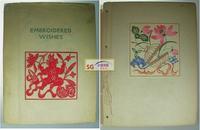 1943年初版《中国剪纸》/ 大开线装/原书衣, 48幅,另附一本手绘剪纸图样 /Alfred Koehn / Embroidered Wishes