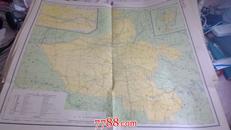 民国地图《河南省》76厘米*69厘米 附开封市