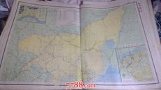 民国二十二年地图《吉林省》76厘米*53厘米 附永吉市哈尔滨市