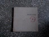 英文原版   HOLLAND(荷兰)48幅彩照扉页有英文签赠留言如图布质封面书脊有轻微破损
