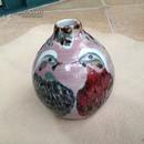 陈家泠 1997年绘 好鸟图 手绘花瓶