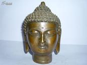 佛头 老铜器佛像神相摆件老铜像佛家古董古玩杂项供奉佛具佛首
