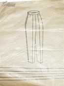 女式长裤裁剪纸样