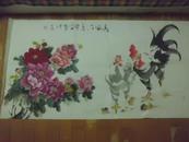中国书画院上海分院副院长吕成友(字天石)大写意鸡一幅  保真