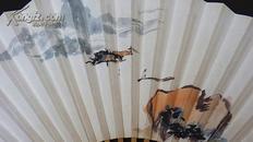 ◆◆文玩雅品 ◆◆中国国家画院张江舟工作室画家双面书画成扇一把【山水篇】3