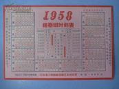 江苏省江南轮船运输区公司印发   《1958年锡泰班时刻表》