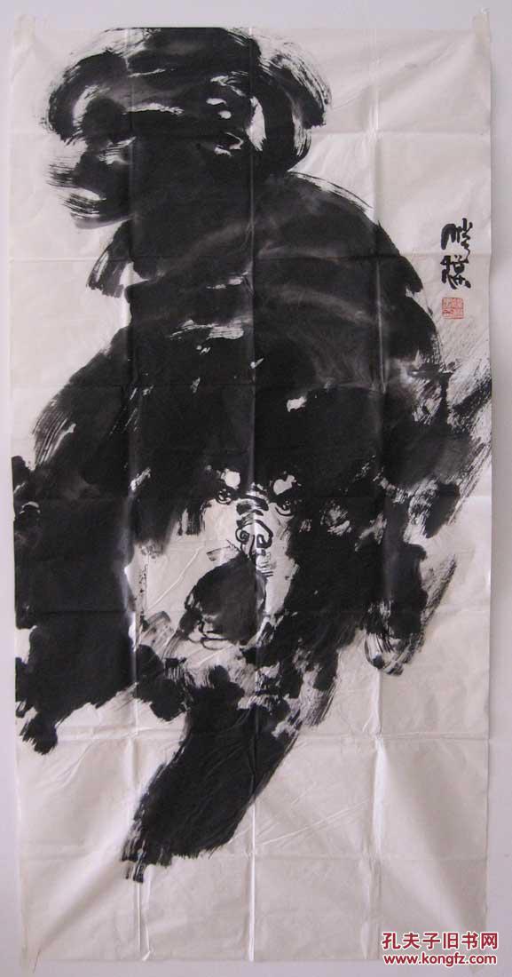 画家腾模绘画作品:写意藏獒(一)
