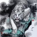 彭祖华 威震河山 68×68cm
