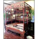 清末民国初年红豆杉木架子床一架,完美品好