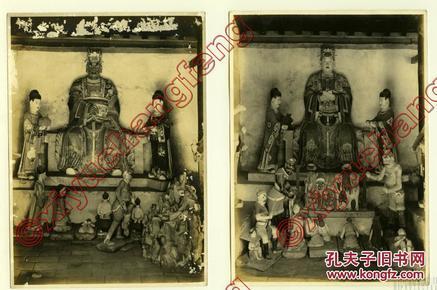 民国  10张合售1926年 大连 辽宁金州 天齐庙 老照片  15cmX11cm